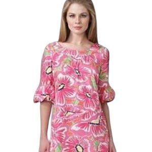 Lilly Pulitzer Dasha Floral Silk Dress Size 8